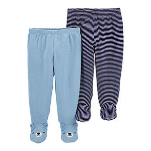 Baby Carter's 2-Pack Cotton Footed Pants