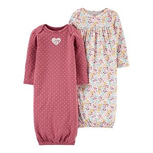 Baby Girl Carter's 2-Pack Sleeper Gowns