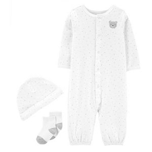 Baby Carter's 3-Piece Sleep & Play, Hat & Socks Set