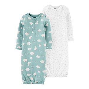 Baby Carter's 2-Pack Sleeper Gowns