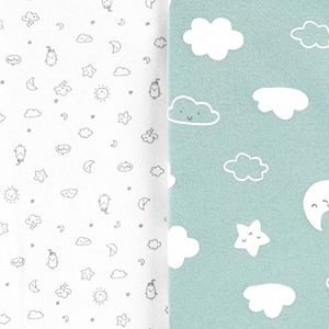 Baby Carter's 5-Pack Clouds Original Bodysuits