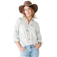 Sonoma Goods For Life Womens Essential Button-Down Shirt Deals