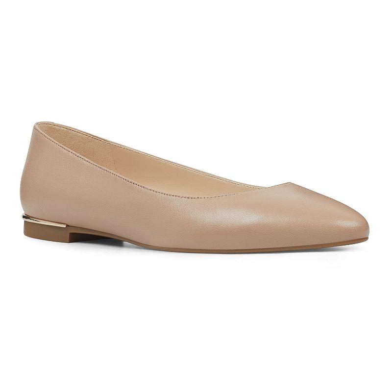 Nine West Corrine Women's Leather Ballet Flats, Size: 10, Lt Beige