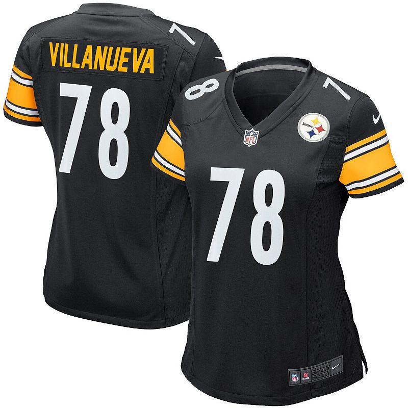 Women's Nike Alejandro Villanueva Black Pittsburgh Steelers Game Jersey, Size: Medium