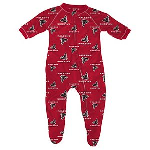 Atlanta Falcons Infant Piped Raglan Full Zip Coverall - Red