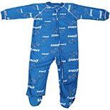Detroit Lions Newborn Full Zip Raglan Coverall - Light Blue