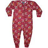Washington Redskins Toddler Piped Raglan Full Zip Coverall - Burgundy