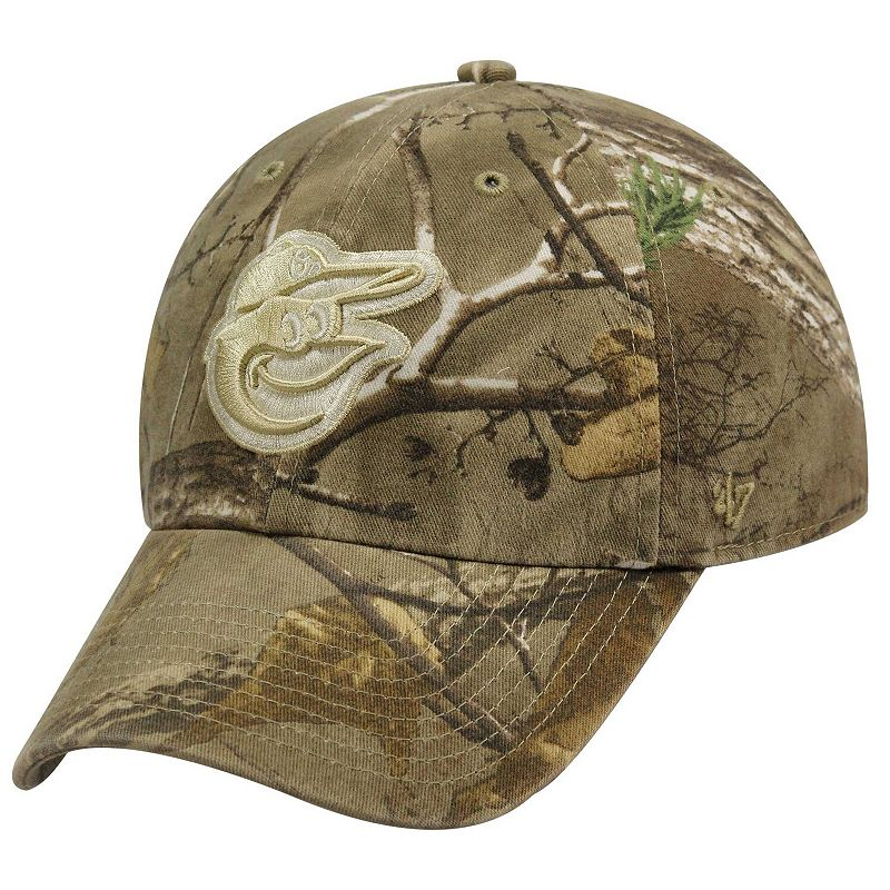 '47 Brand Baltimore Orioles Franchise Fitted Hat – Realtree Camo, Size: 2XL, Green