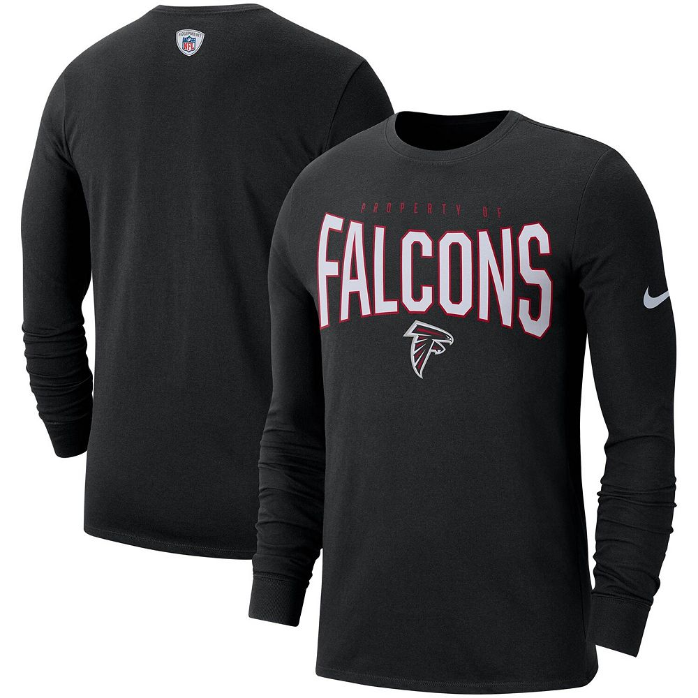 Atlanta Falcons Nike Sideline Property Of Performance Long Sleeve T-Shirt - Black