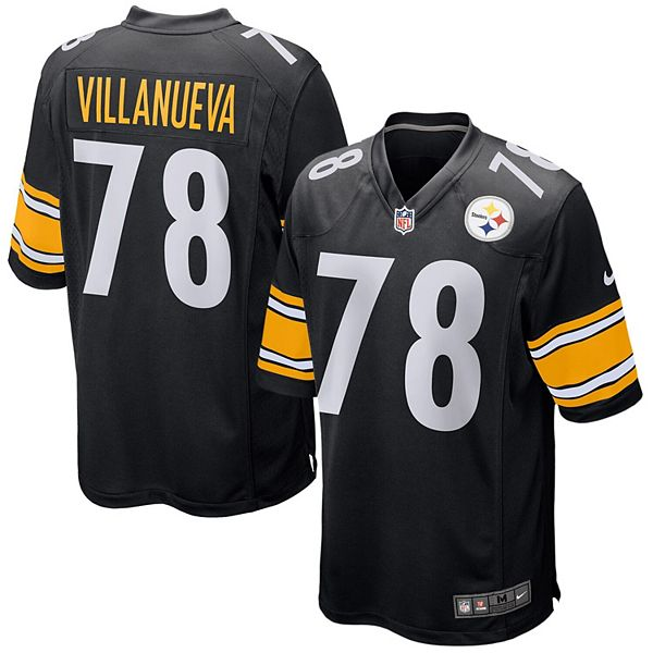 Men's Nike Alejandro Villanueva Black Pittsburgh Steelers Game Jersey