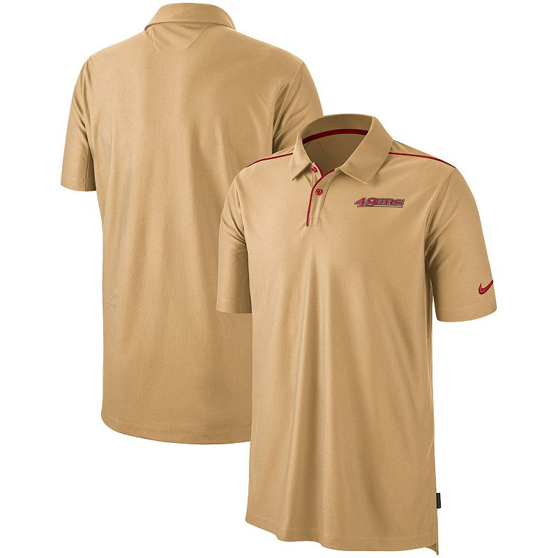 San Francisco 49ers Nike Sideline Team Issue Performance Polo - Gold, Men's, Size: Small