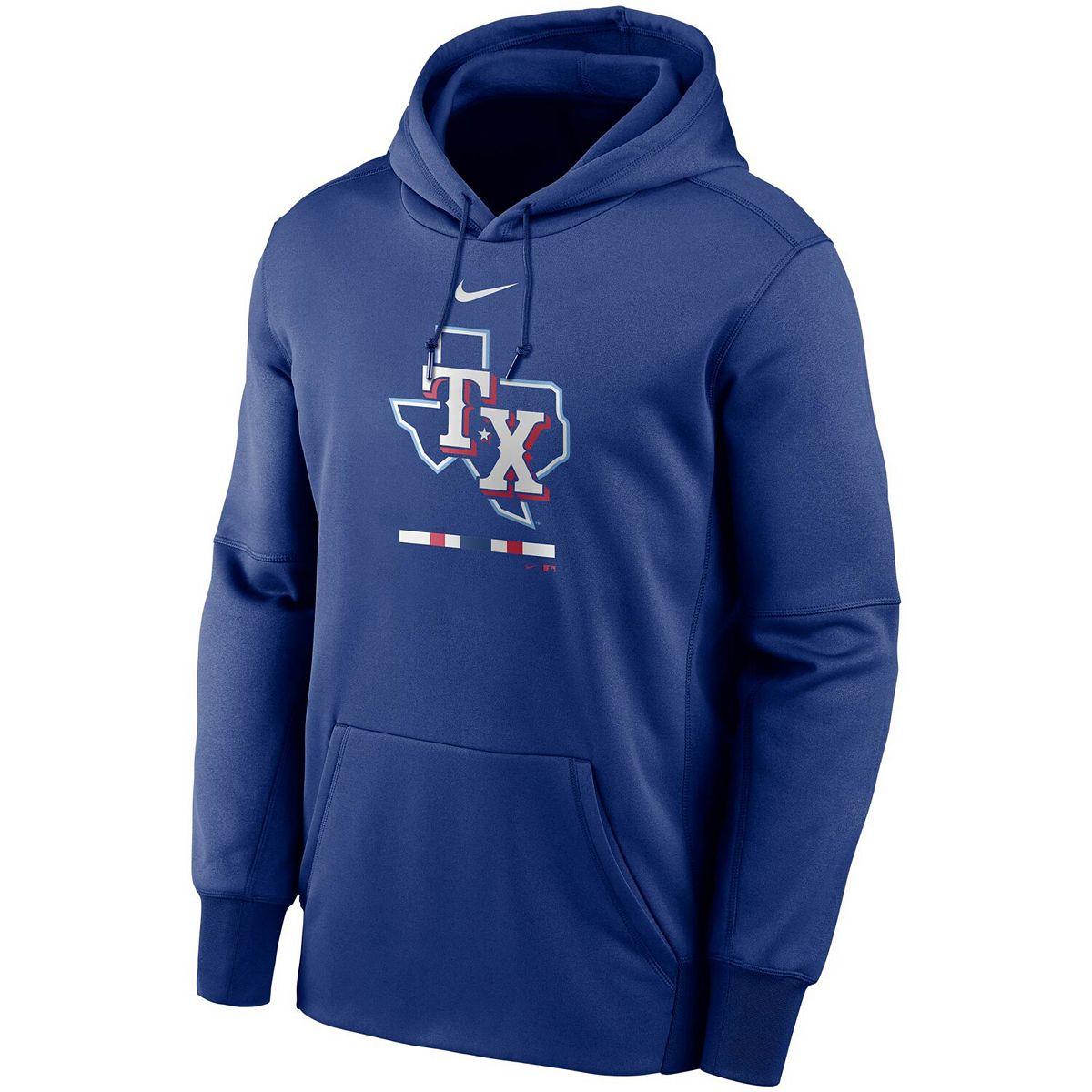 Men's Nike Royal Texas Rangers Legacy Performance Pullover Hoodie Gjbf5