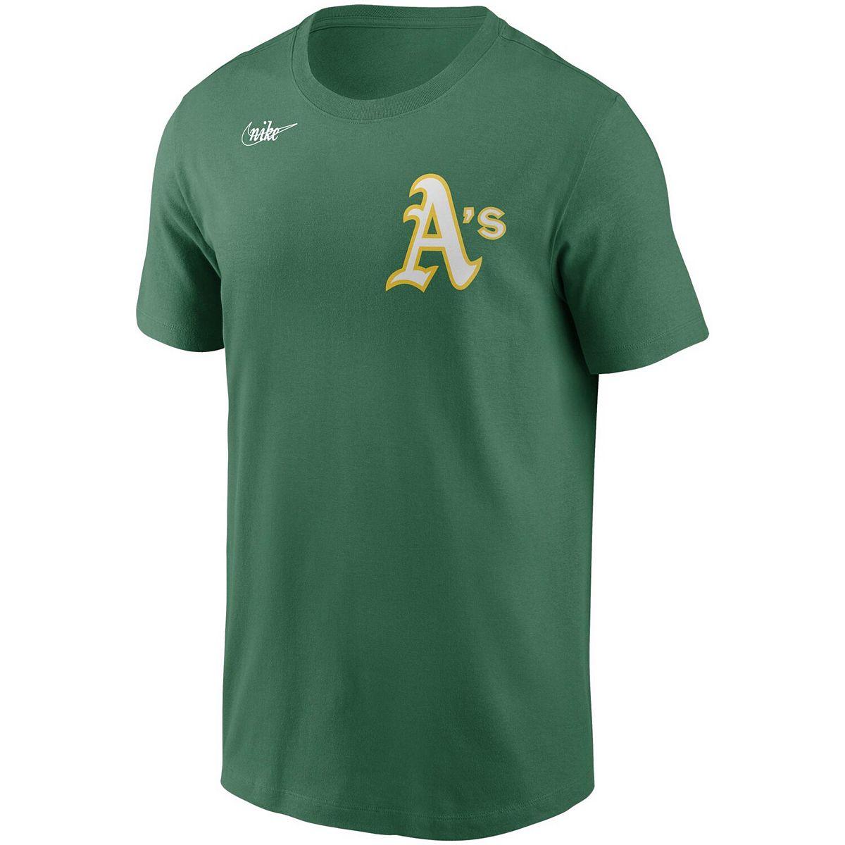 Men's Nike Reggie Jackson Green Oakland Athletics Cooperstown Collection Name & Number T-Shirt w4JKs