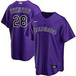 Men's Nike Nolan Arenado Purple Colorado Rockies Alternate 2020 Replica Player Jersey