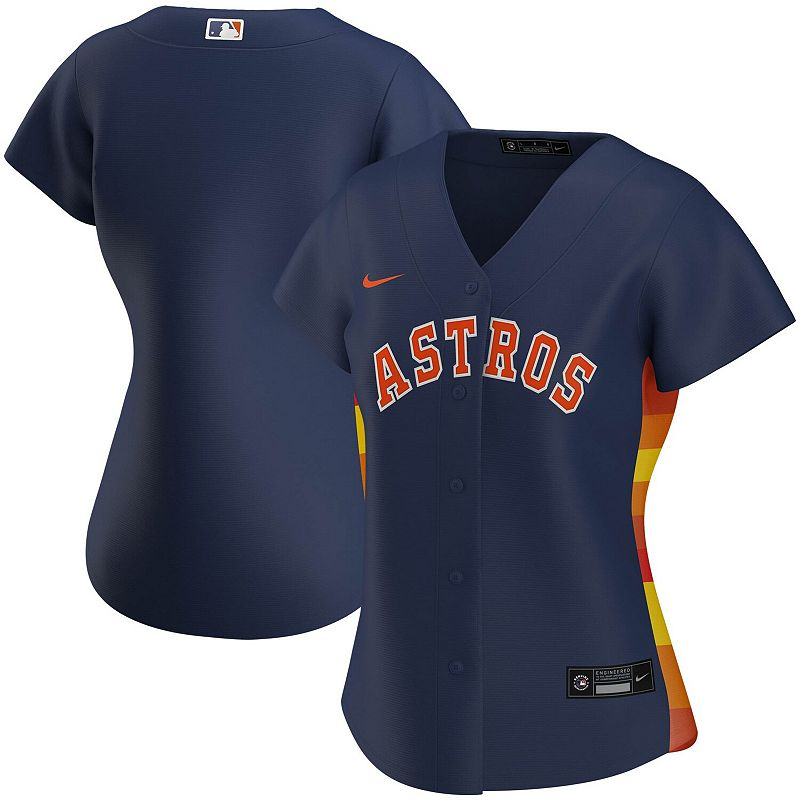 Women's Nike Navy Houston Astros Alternate 2020 Replica Team Jersey, Size: XL, Blue