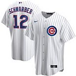 Men's Nike Kyle Schwarber White Chicago Cubs Home 2020 Replica Player Jersey