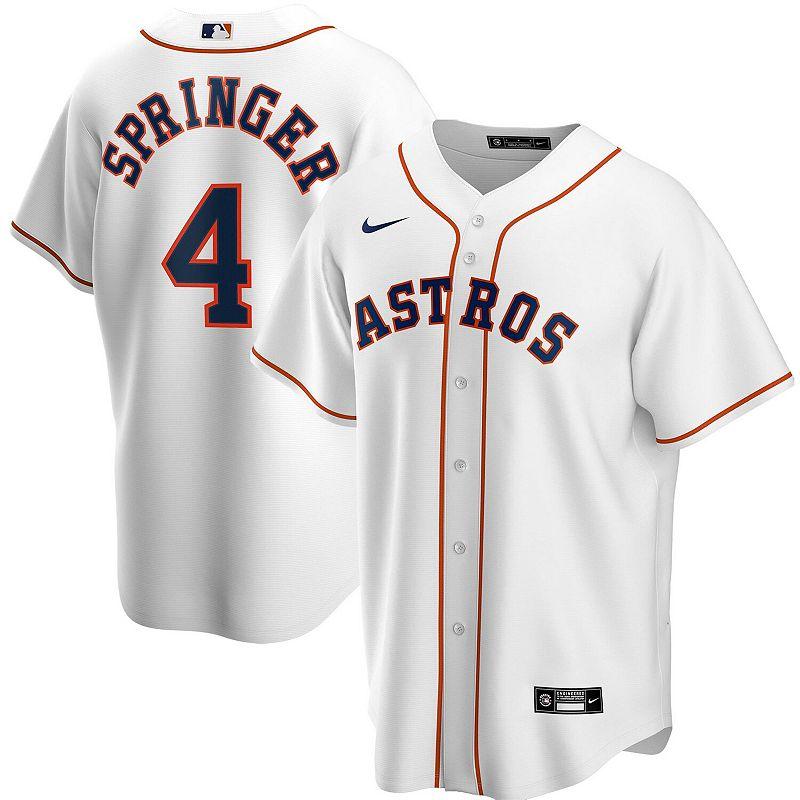 Men's Nike George Springer White Houston Astros Home 2020 Replica Player Jersey, Size: XL