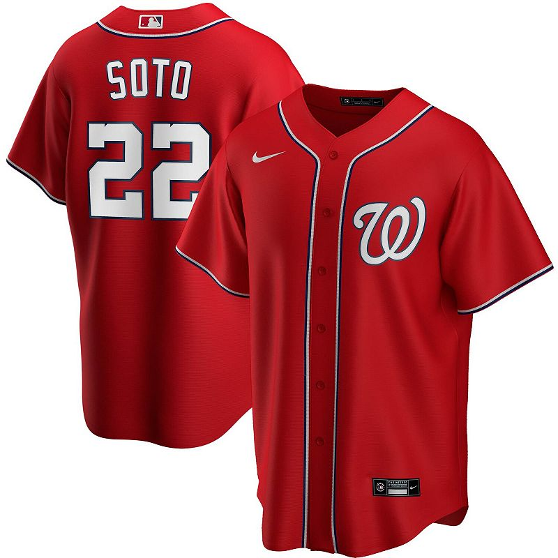 Men's Nike Juan Soto Red Washington Nationals Alternate 2020 Replica Player Jersey, Size: 2XL