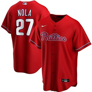 Men's Nike Aaron Nola Red Philadelphia Phillies Alternate 2020 Replica Player Jersey
