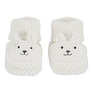 Baby Carter's Bear Newborn Knit Booties