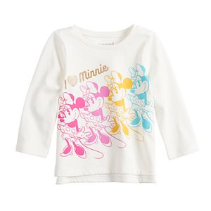 Disney's Minnie Mouse Baby Girl Raglan Graphic Tee by Jumping Beans®