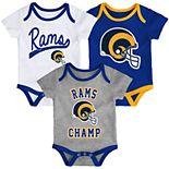 Baby NFL Los Angeles Rams Champ Bodysuit 3-Pack