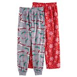 Girls 4-12 Cuddl Duds® 2-Pack Pants