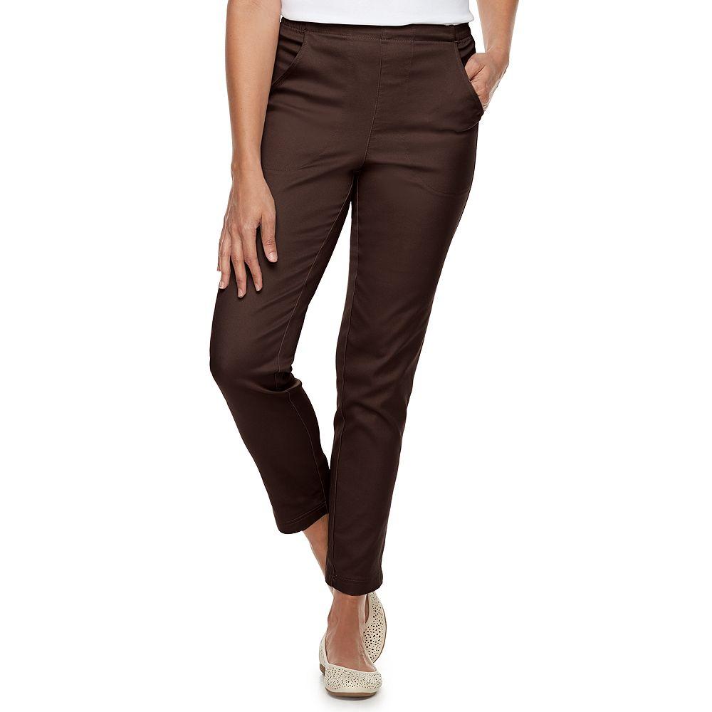 Women's Croft & Barrow® Classic Pull-On Straight Leg Pants