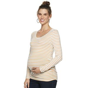 Maternity a:glow Long Sleeve Open Crewneck