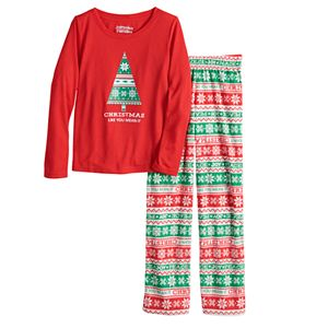 Jammies For Your Families® Boys 4-20 Christmas Like You Mean It Top & Bottoms Pajama Set
