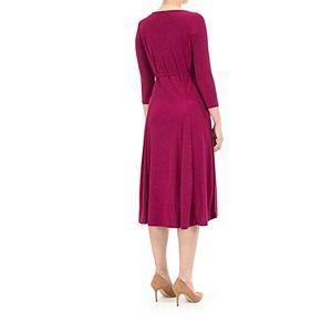 Women's Nina Leonard Grommet-Detail Midi Dress