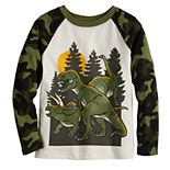 Toddler Boy Jumping Beans® Dinosaurs Camo Raglan Graphic Tee