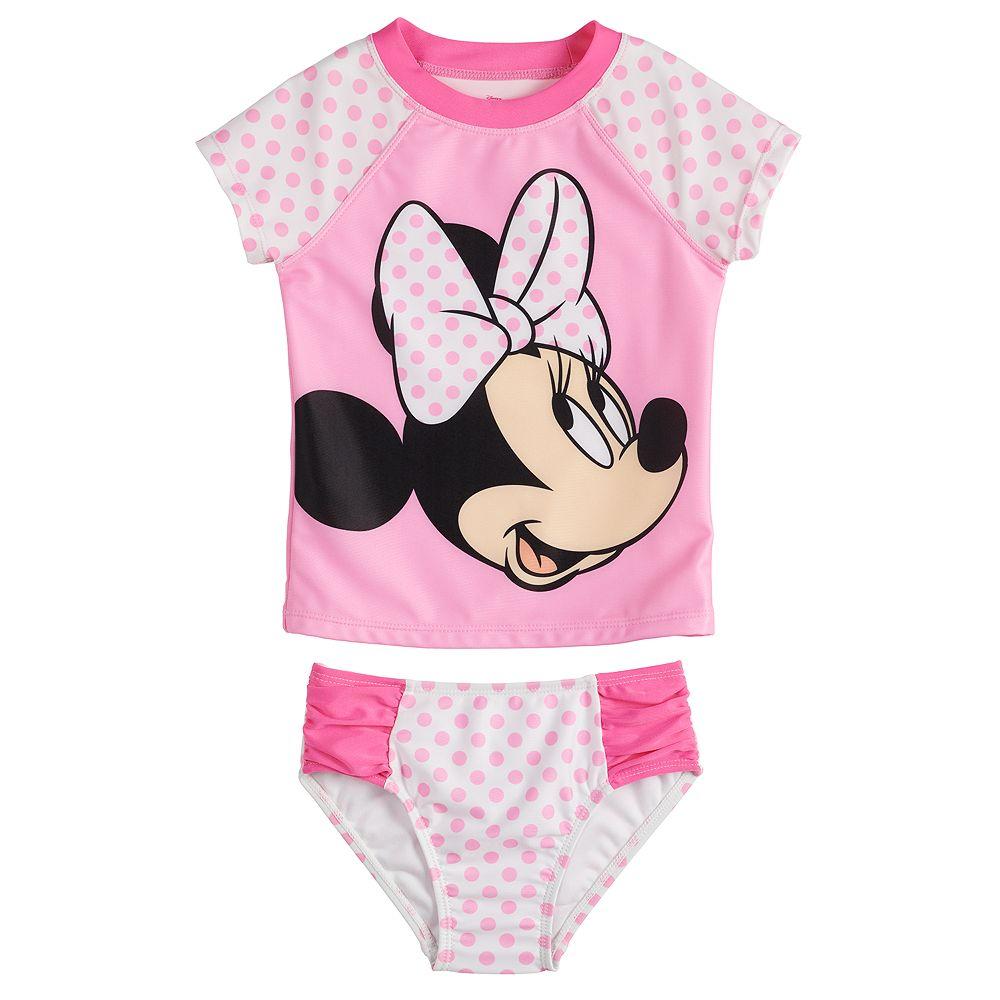 Disney's Minnie Mouse Toddler Girl Minnie Polka Dot Two Piece Swimset