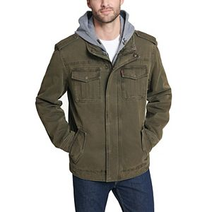 Men's Levi's Washed Sherpa-Lined Hooded Field Coat