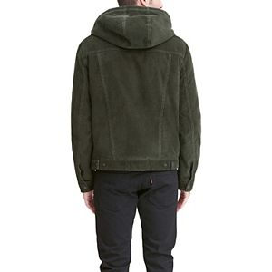 Men's Levi's Corduroy Sherpa-Lined Hooded Trucker Jacket