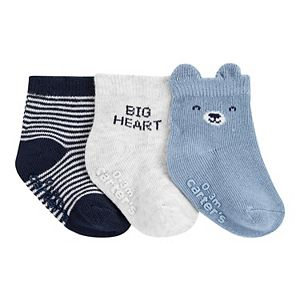 Baby Boy Carter's 3 Pack Animal Crew Socks