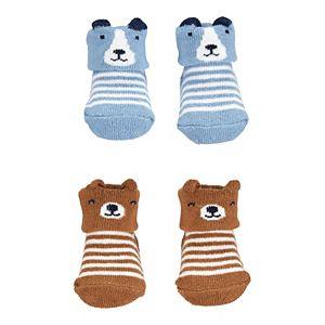 Baby Carter's 2 Pack Animal Striped Socks