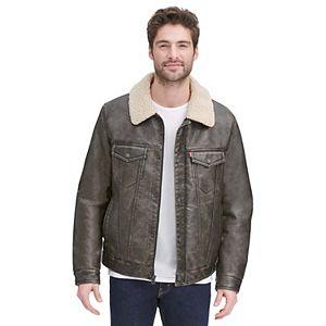 Men's Levi's Classic Faux-Suede Sherpa-Lined Trucker Jacket