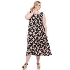 Plus Size Croft & Barrow® Smocked Midi Dress