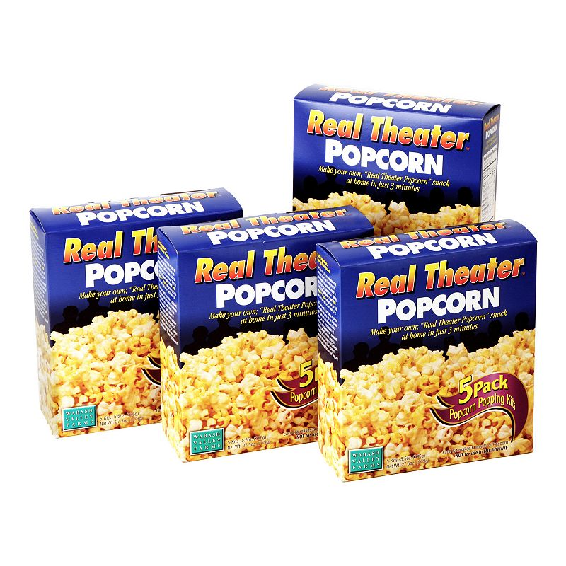 This Real Theater Popcorn Kit from Wabash Valley Farms is perfect for the movie lover in your life. This kit includes everything you need to make theater-style popcorn at home! This Real Theater Popcorn Kit from Wabash Valley Farms is perfect for the movie lover in your life. This kit includes everything you need to make theater-style popcorn at home! Simply add ready-to-pop contents into your Whirley-Pop popper or pan and enjoy popcorn in just minutes Each popping kit contains pre-measured portions of Gourmet popcorn, Secret Buttery Salt and Special Popping Oil Each popping kit makes 6 quarts, Certified kosher dairyWHAT\\\'S INCLUDED Four Real Theater Popcorn packs (5 kits each) Size: One Size. Color: Multicolor. Gender: unisex. Age Group: adult.