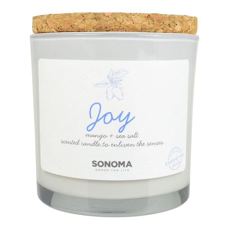 Sonoma Goods For Life 13-oz. Joy Candle - Mango & Sea Salt, White