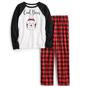 Boys 4-20 Jammies For Your Families® Cool Bear Top & Plaid Pants Pajama Set by Cuddl Duds