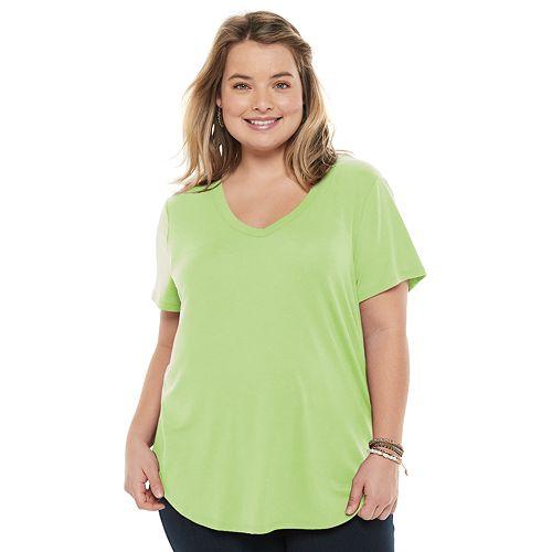 Juniors' Plus Size SO® Favorite Short Sleeve Tee