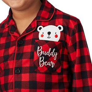 Kids 4-14 Jammies For Your Families® Cool Bear Plaid Top & Pants Pajama Set by Cuddl Duds