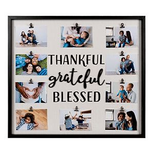 New View Thankful Grateful 10-Opening Clip Photo Collage Frame