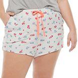 Juniors' Plus Size SO® Easy Sleep Shorts