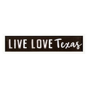 New View Live Love Texas Distressed Wall Decor