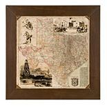 New View Texas Map Wall Art