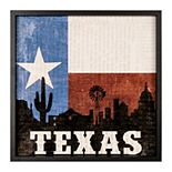 New View Texas Flag Wall Art