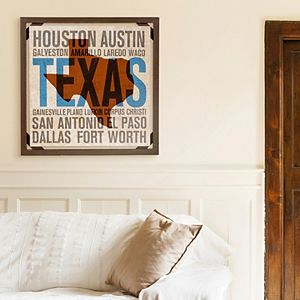 New View Texas Cities Wall Art
